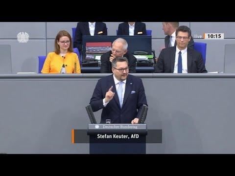 """Bundestag. """"Mit der AfD ist ein Überwachungsstaat nicht zu machen"""" Stefan Keuter, AfD 07.11.2019"""