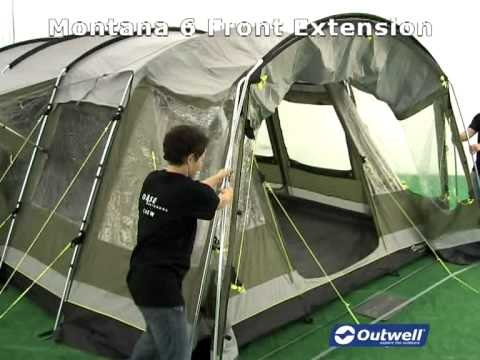 & Outwell Montana 6 Front Extension - YouTube
