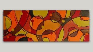 Colliding Circles Abstract Painting in Acrylics