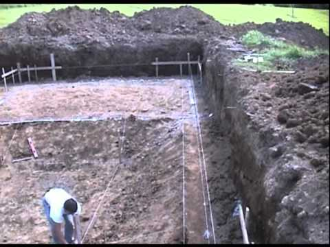 How to build a cement swimming pool