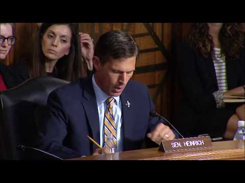 Heinrich Highlights Drought Bill At Energy And Natural Resources Hearing