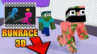 Monster School : RUNRACE 3D CHALLENGE - Minecraft Animation