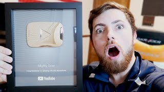 Youtube Sent Me Something AMAZING! Unboxing My 100,000 Subscriber Silver Play Button!