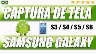 Como tirar captura de tela Samsung Galaxy S3 S4 S5 S6 - MiTutoriais