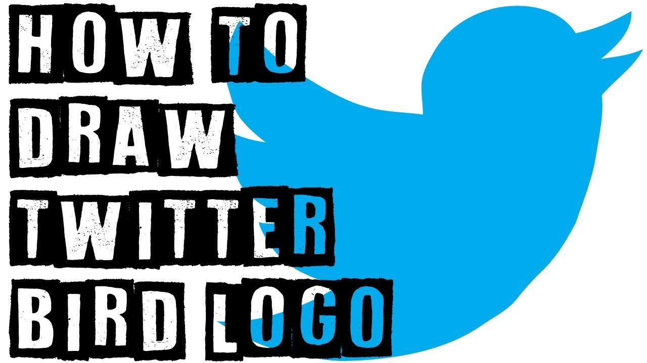 How To Draw Twitter Bird Logo Drawing Expert