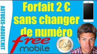 Abonnement forfait mobile 2 euros free-Commander une carte Sim free