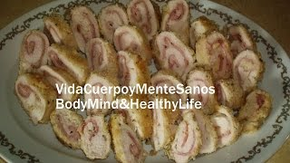 Low Fat Cordon Bleu Chicken Breast  Light Healthy Cooking Christmas Dinner