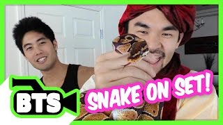 Real Snake on Set! (BTS)