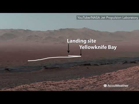 NASA's Mars Curiosity rover shows journey across Gale Crater