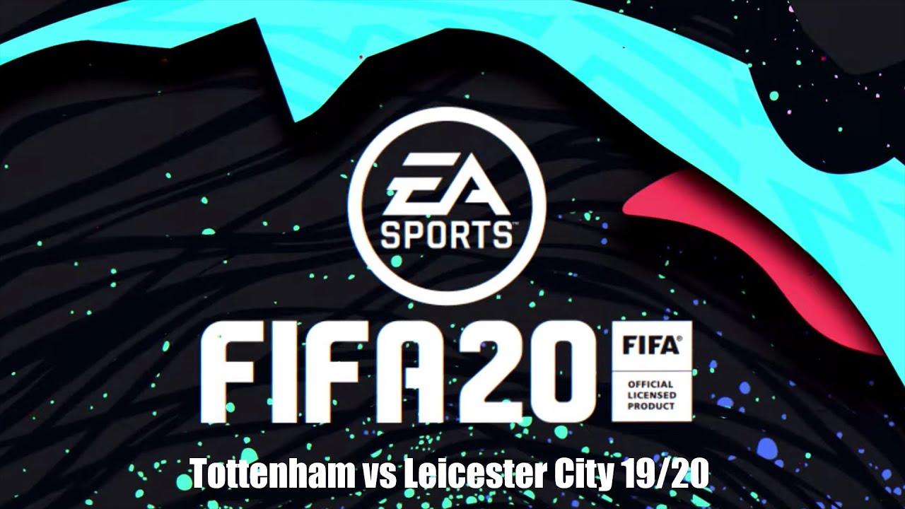 Tottenham Vs Leicester City Totlei English Premier League Simulation With Fifa 20 19 7 2020 Youtube