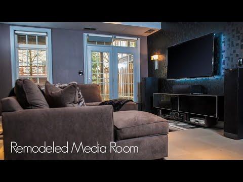 Remodeled Media Room