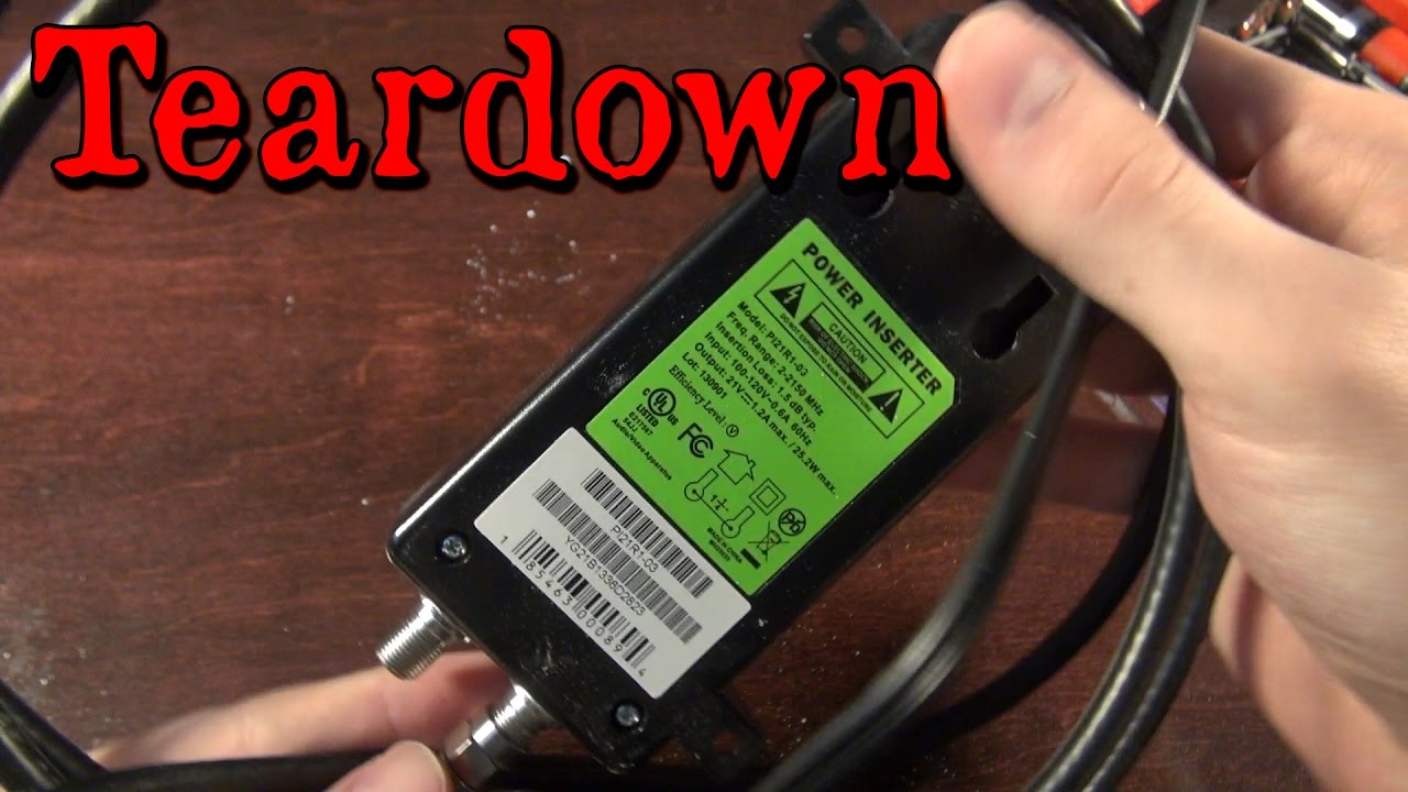 direct tv wiring diagram swm fuse board domestic satellite power inserter teardown youtube