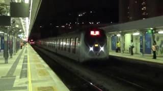 【香港の鉄道】MTR東鉄線大囲駅を発車、入線するSP-1900形
