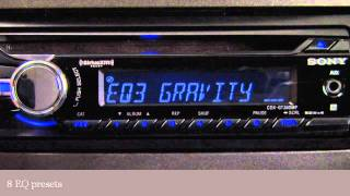 Sony CDX-GT360MP Car Receiver Display and Controls Demo | Crutchfield Video