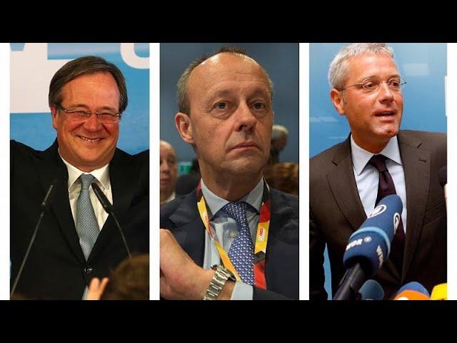 <span class='as_h2'><a href='https://webtv.eklogika.gr/ekloges-sto-cdu-treis-andres-gia-mia-karekla' target='_blank' title='Εκλογές στο CDU: Τρεις άνδρες για μία καρέκλα'>Εκλογές στο CDU: Τρεις άνδρες για μία καρέκλα</a></span>