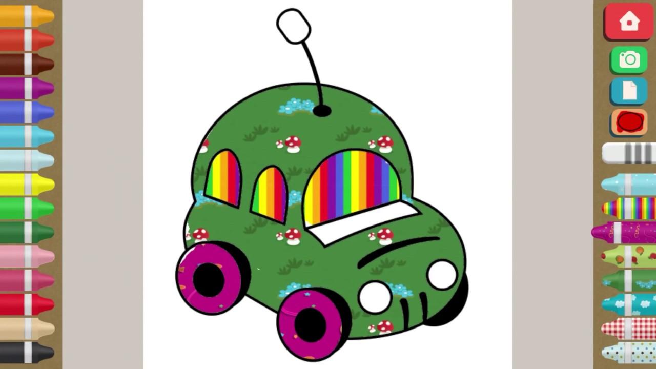 Araba Boyama Oyunu Rengarenk Youtube