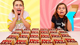 Don't Choose the Wrong McDonald's Big Mac Slime Challenge! | JKrew