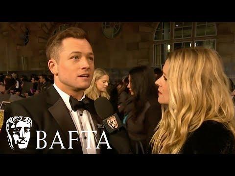 Taron Egerton Red Carpet Interview | EE BAFTA Film Awards 2018