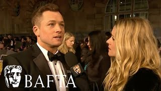 Taron Egerton Red Carpet Interview | EE BAFTA Film Awards 2018