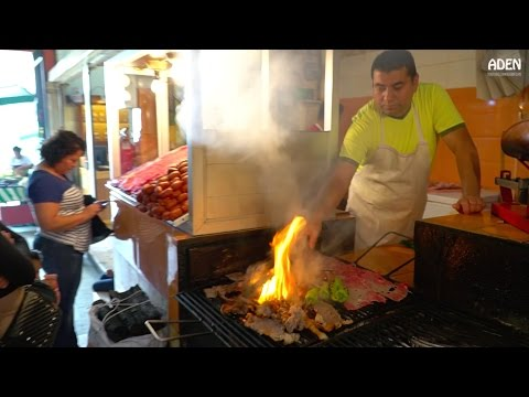 Street Food in Mexico - Carne Asada in Oaxaca