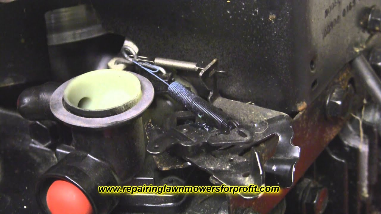 adjusting the governor maintenance search frequently asked additionally repairing lawn mowers for profit part 5 governor springs youtube likewise where does the governor spring connect to on a 125 hp briggs together with rouge river workshop briggs   stratton model 9s502 carburetor as well governor spring installation help hobbytalk. on briggsstrattongovernorsprings