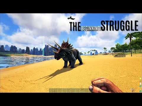 THE START IS A STRUGGLE! The Beginning - The Center (E1) - ARK Survival Gameplay