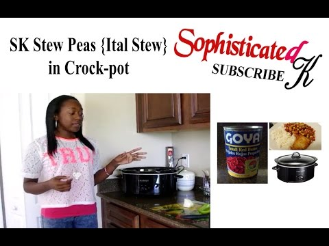 Stew Peas (Ital Stew) in Crock-Pot KL from YouTube · Duration:  6 minutes 34 seconds