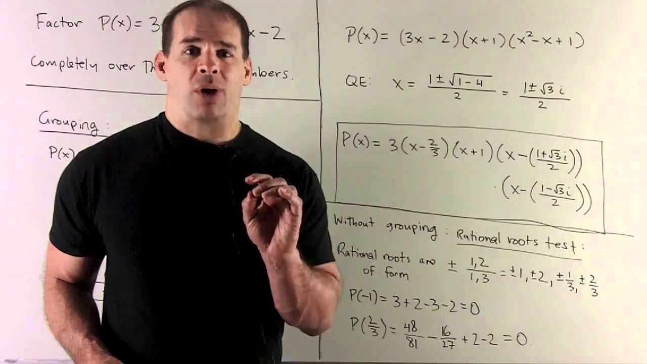 factoring 3x 4 2x 3 3x 2 over the complex numbers youtube. Black Bedroom Furniture Sets. Home Design Ideas