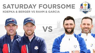 Jon Rahm and Sergio Garcia defeat Brooks Koepka and Daniel Berger | Foursomes | Ryder Cup 2020
