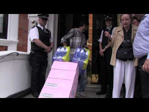 Water Delivery for Assange Sparks Major Diplomatic Incident (Ecuadorian Embassy)