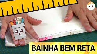 BAINHA RETA SEMPRE NO PATCHWORK OU COSTURA INICIANTE
