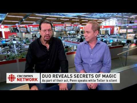 CBC News Network Ian Hanomansing interviews Penn & Teller part 2