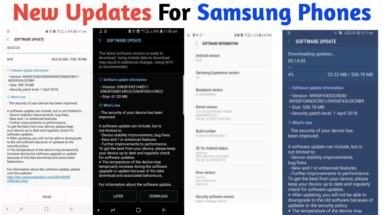 New updates for Samsung Phones || J2 2018, Samsung Android Go,A 2017 Oreo