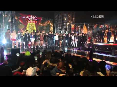 121221 All Artists - All I Want For Christmas Is You (Ending) @KBS Music Bank