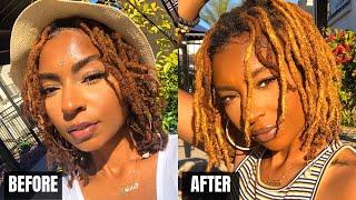 Ginger to Blonde LOCS in 10 minutes! | iamLindaElaine Loc Journey