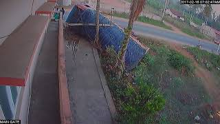live road deadly accident caught on CCTV in coorg