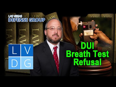Can I refuse DUI breath tests in Nevada?