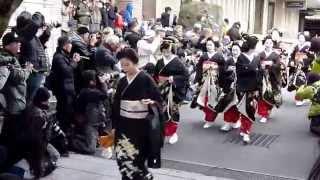 京都祇園の舞妓、芸妓 新年挨拶回り Maiko and Geiko. The Opening Ceremony In Kyoto Gion--2015