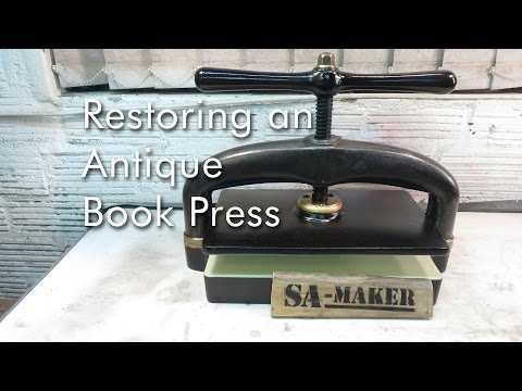 How to restore an Antique Book Press