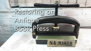 Restoring an Antique Book Press(In this video I restore this antique book press (QualityD) to full functioning order. It is also called a letter press or a letter copy press. You can find more detail ..., 2015-11-15T11:20:03.000Z)