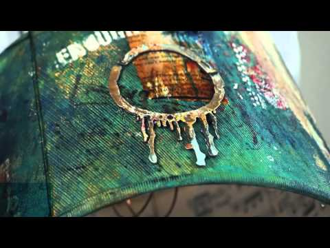 Creative Cafe Try A Trend: Mixed Media Lampshade Tutorial Using Spellbinders Seth Apter Collection