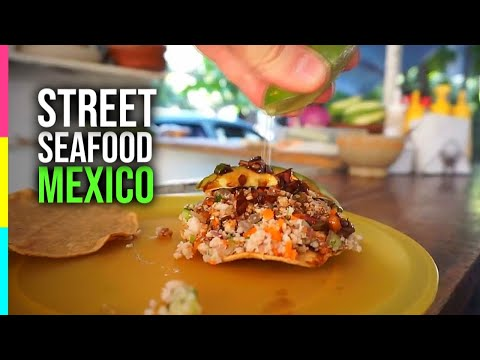 Mouthwatering Mexican STREET SEAFOOD! Puerto Vallarta, Mexico