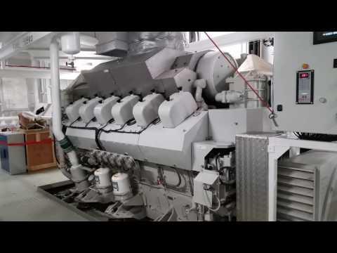 Mitsubishi Marine Diesel Engine S12U-MPTK Start Up  T.S.H.D Charlock