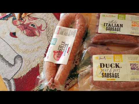 Un-boxing Frozen Sausage in the mail.