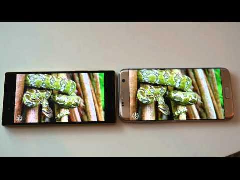 Samsung Galaxy S7 Edge Vs Sony Xperia Z5 - Screen Comparison