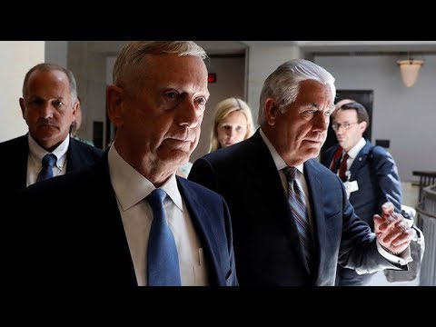 Download Youtube: Tillerson, Mattis SCHOOLS Corker and Flake on authorization of military force by President Trump