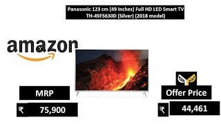 Panasonic 123 cm (49 Inches) Full HD LED Smart TV TH-49FS630D (Silver) (2018 model)