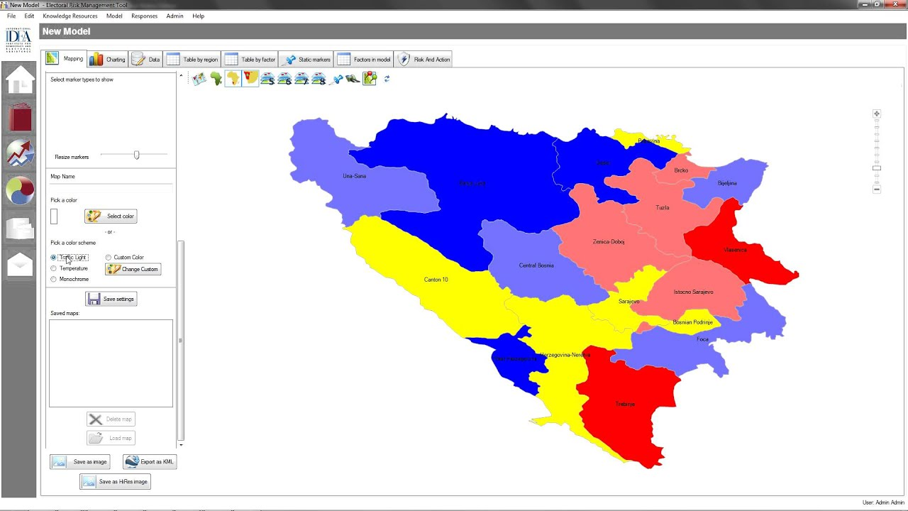 The Electoral Risk Management Tool A Tutorial YouTube - Color temperature us voting map