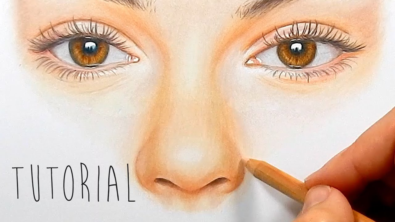 Tutorial  How To Draw, Color A Realistic Nose With Colored Pencils  Step  By Step  Emmy Kalia