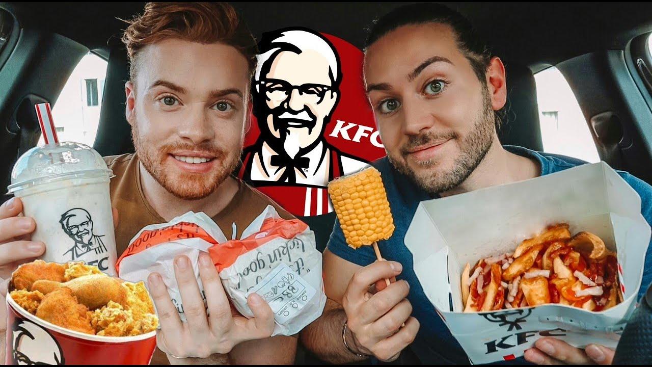 Provámos FAST FOOD que NUNCA tínhamos experimentado! *KFC* 🍟🍔